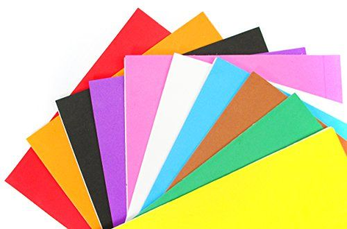 ALL in ONE Mixed Color 10pcs Self Adhesive Eva Foam Sheet for DIY