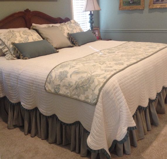 Bed Skirt Queen Gathered With 16 Drop Queen Bedskirt