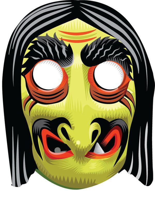 Vintage Halloween Witch Masks By Q Cassetti Via Behance