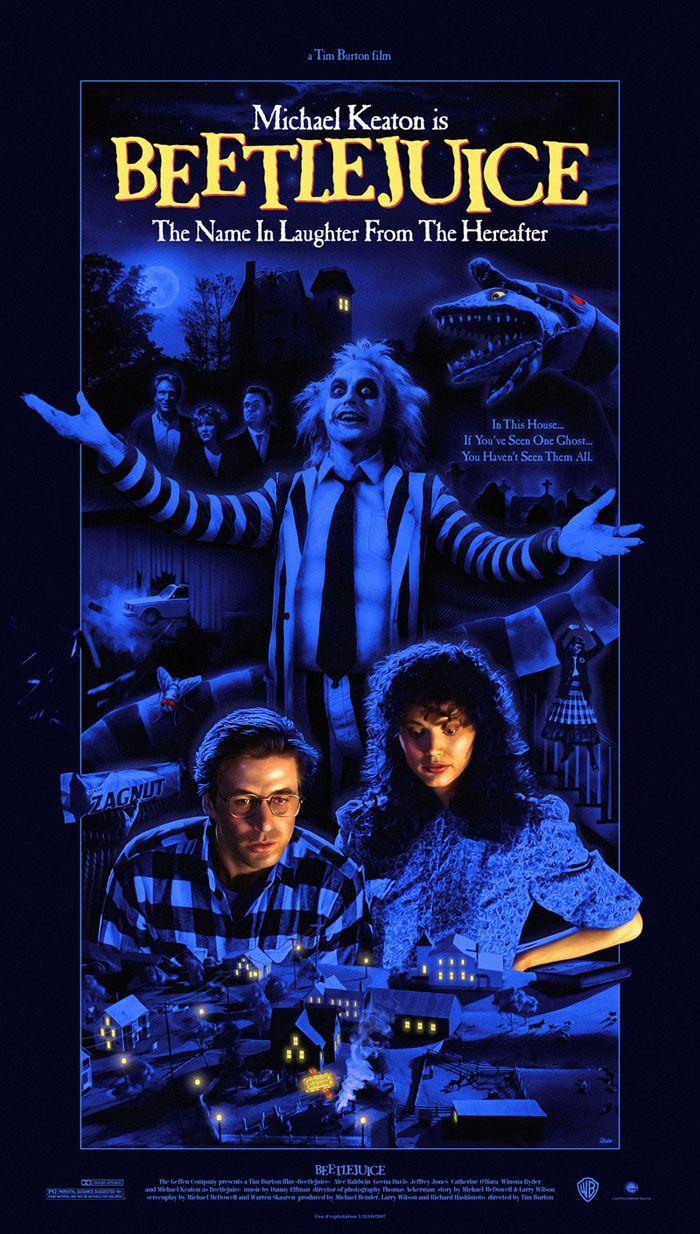 Alternative movie poster for Beetlejuice by Steve Marchal