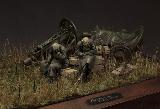 """Short Sleep"" 1/35 scale. By Alexander Zelenkov #diorama #vignette"