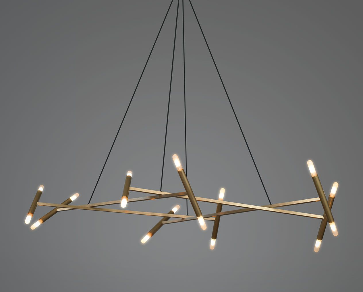 Jonathan browning studios lightinglamps pinterest browning le diamant chandelier is made from heavy wall brass tubese four square tubes terminate at each end at a round tubenbsp arubaitofo Choice Image