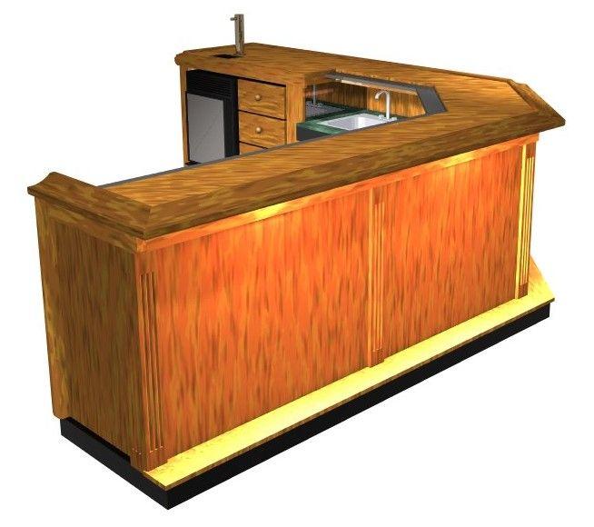EHBP-09 45 Degree Angled Corner Wet Bar