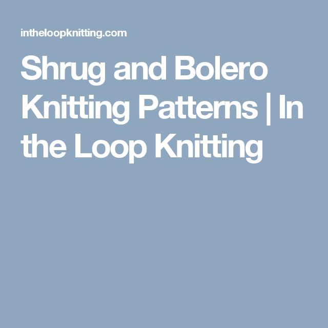 Shrug and Bolero Knitting Patterns