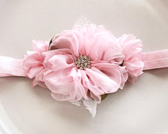 Pink chiffon flower headband by jensbowdaciousbows on etsy bows pink chiffon flower headband by jensbowdaciousbows on etsy mightylinksfo Images
