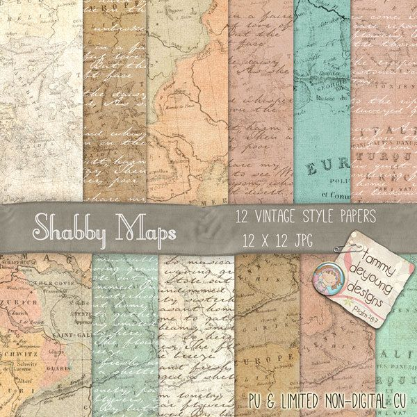 Map digital paper old world map paper printable maps in map digital paper old world map paper printable maps in shabby chic gumiabroncs Image collections