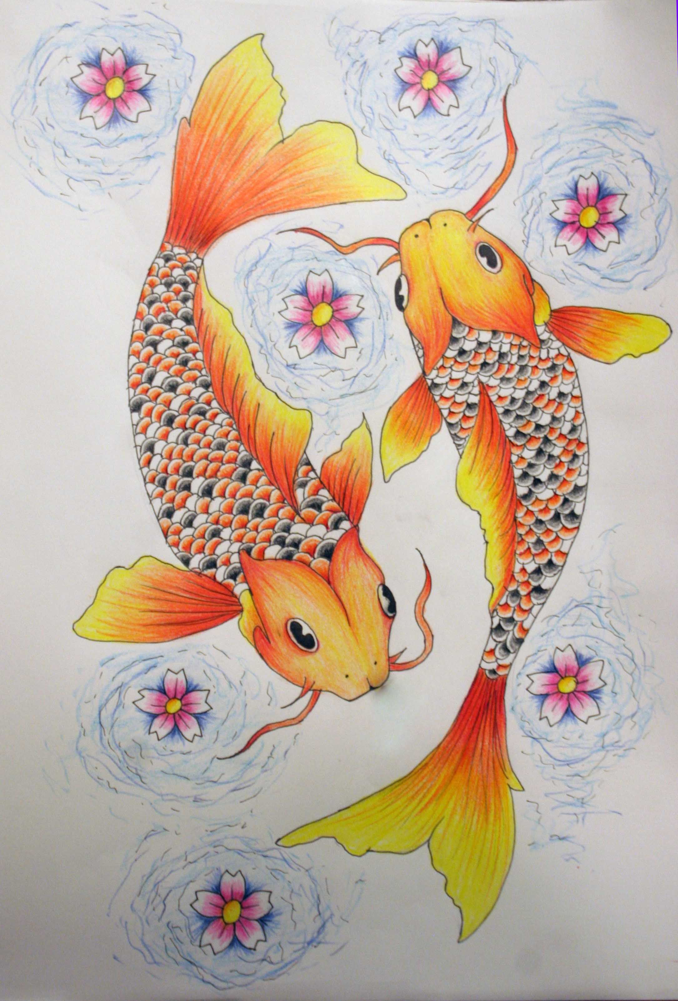 Pisces Tattoo Color By Kelseysparrow67 On Deviantart Pisces Tattoos Pisces Tattoo Designs Fish Drawings