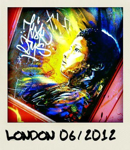 Street Art in London, taken in June 2012 in the Brick Lane area