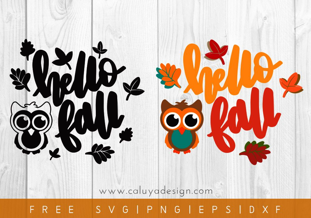 Free Hello Autumn SVG, PNG, EPS & DXF by Cauya Design