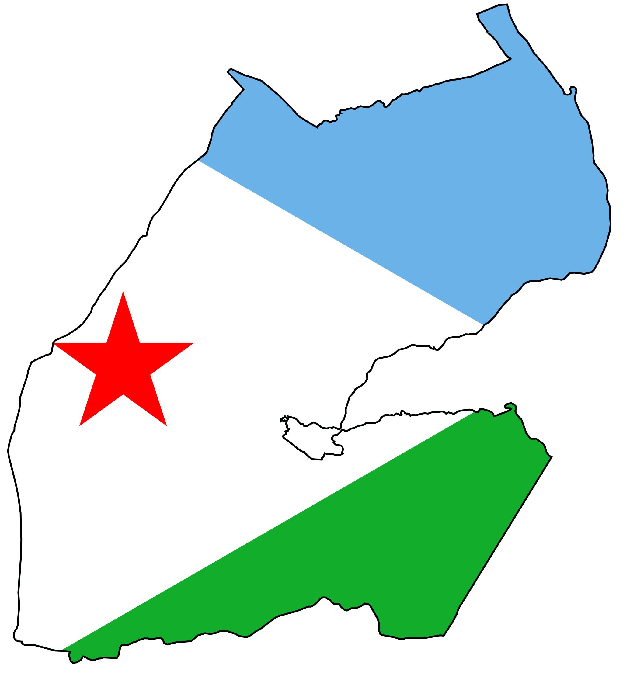Djibouti Flag Map - Mapsof.net | Africa | Pinterest | Djibouti flag ...