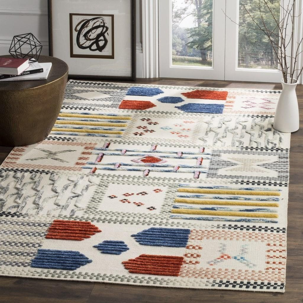 In A Marvelous Contemporary Update This Traditional Area Rug From Safavieh S Kilim Collection Showcases Nomadic Designs Through Flatweave Kilim Area Rugs Rugs