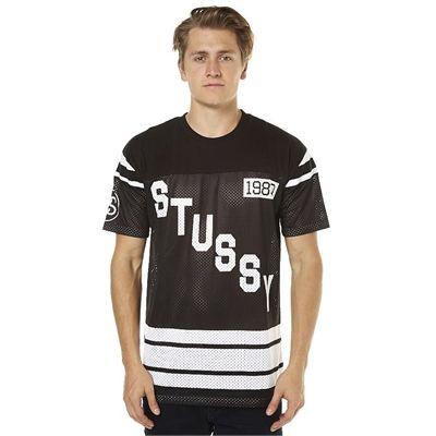 New Stussy Men s 80 Mesh Grid Iron Mens Tee Mens T-Shirts T-Shirt Tops Black ef860fb27