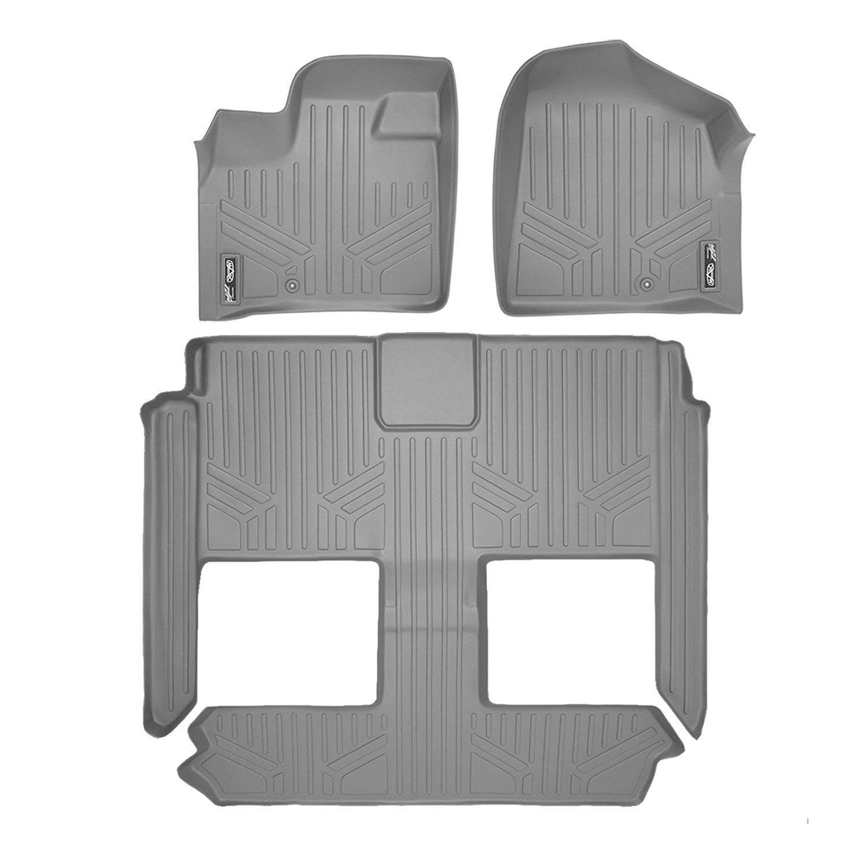 Smartliner Floor Mats 3 Row Liner Set Grey For 2008 2018 Dodge