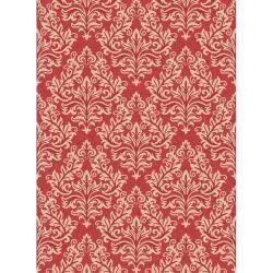 Poolside Red/ Cream Indoor Outdoor Rug (6'7 x 9'6) | Overstock.com Shopping - Great Deals on Safavieh 5x8 - 6x9 Rugs