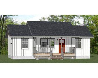 20x16 House 1 Bedroom 1 5 Bath 557 sq ft PDF Floor Plan Instant Download Model 13C
