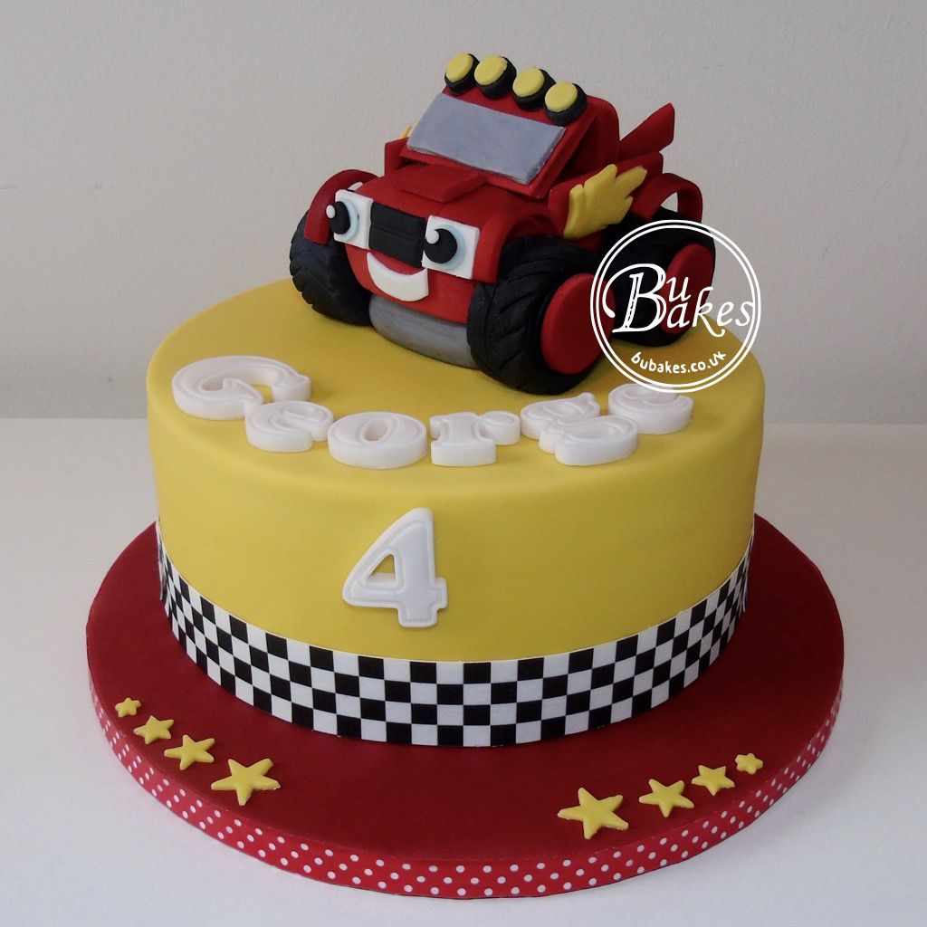 Blaze and the monster machines themed cake by 2nd birthday party in 2018 - Cumpleanos infantiles comida ...