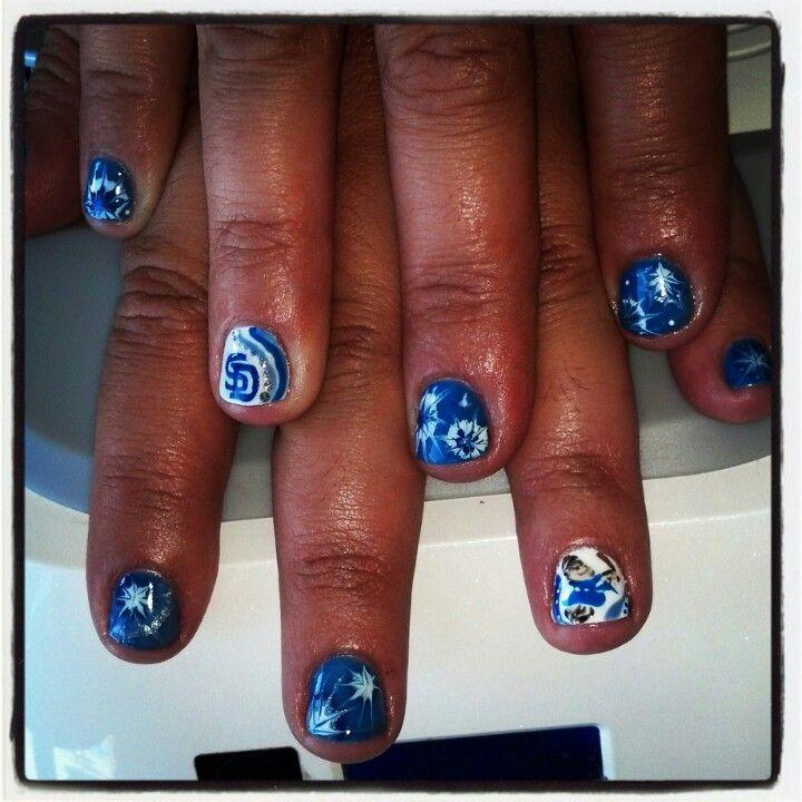 San Diego #Padres #baseball #mlb #nails #nailart | Finger fancy ...