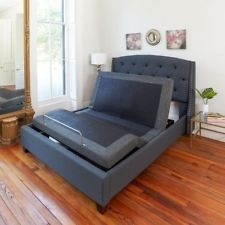 King Size Electric Bed Frame Power Adjustable Base Massage Zero