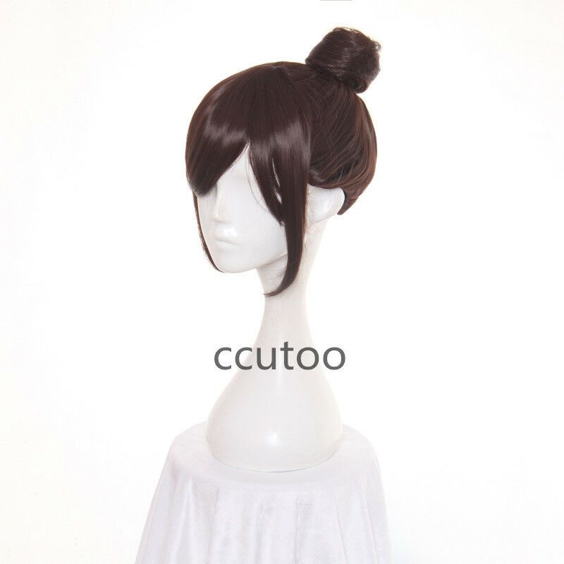 Photo of Anime Game Overwatch OW Mei Brown Synthetic Hair Cosplay Wig With Bun#OW#Mei#Ove…