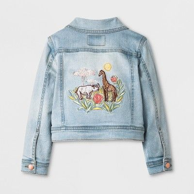 Toddler Girls Genuine Kids From Oshkosh Jean Jacket Light Wash 3t