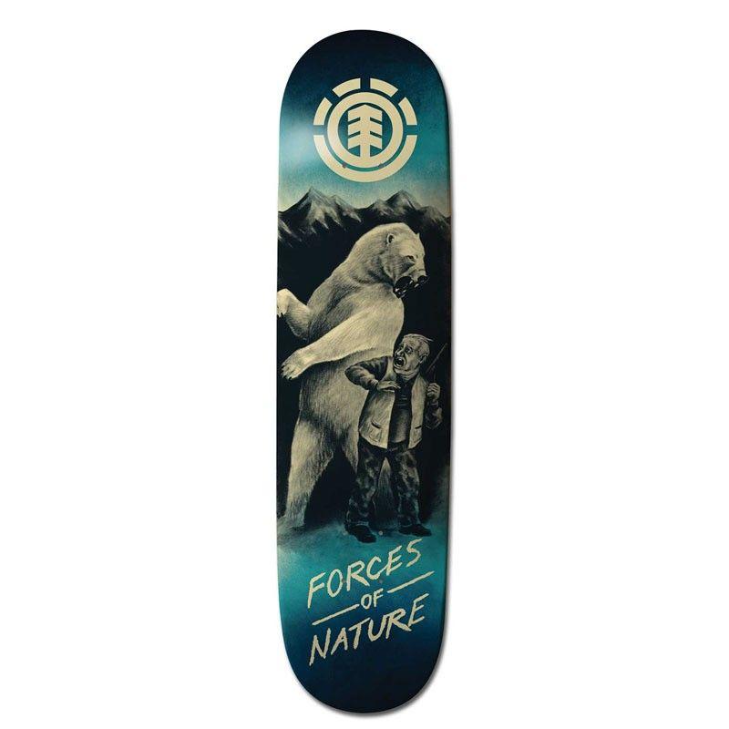 Element Force Of Nature Polar Bear 8 0 Deck Only Length 31 75 80 6cm Width 8 20 3cm
