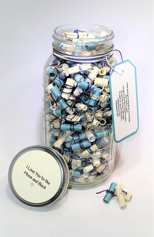 365 Days Love Notes Jar Message Filled 64 Oz Mason Jar Two Etsy Diy Gifts For Boyfriend Happy Jar Boyfriend Gifts