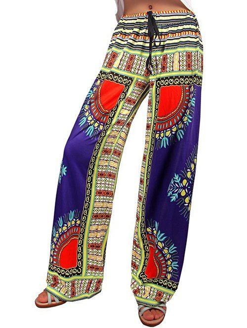 Drawstring Tribal Print Exumas Pants