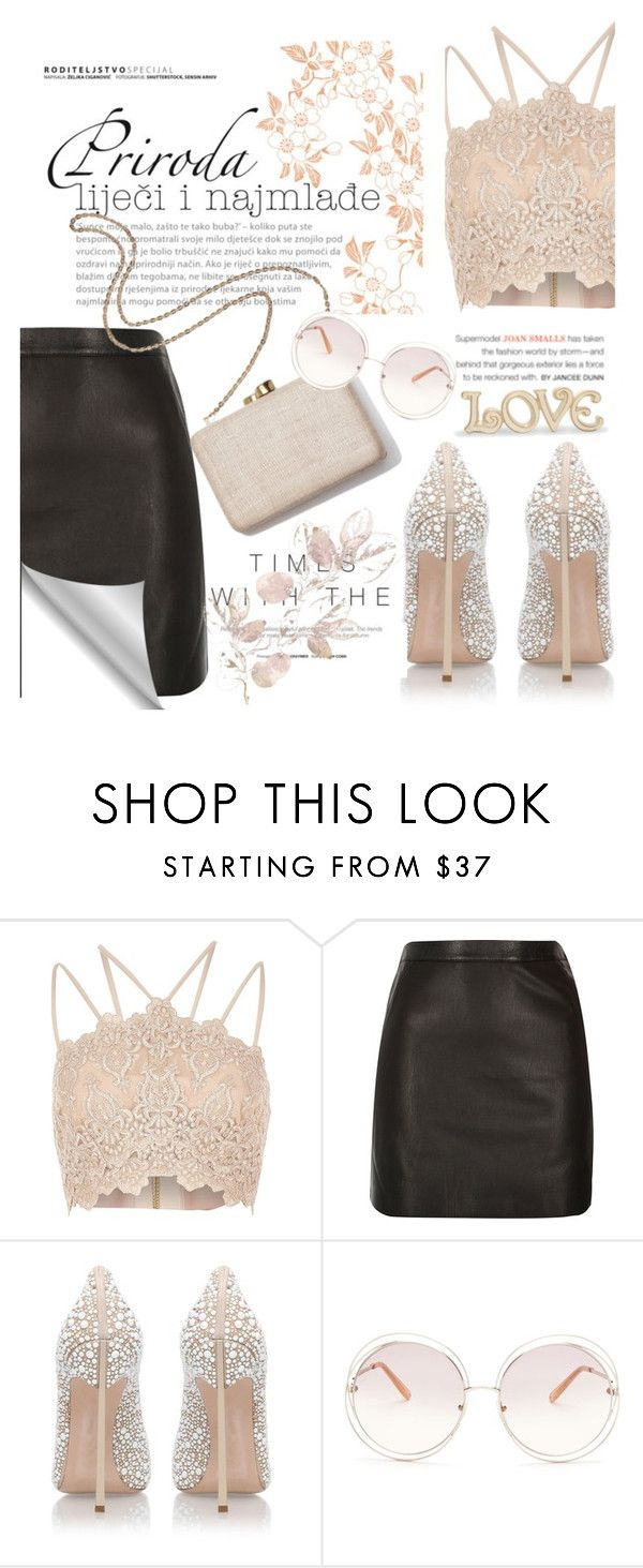 """""""set for my friend @angel-cb 😊😍😚❤"""" by agathalimas ❤ liked on Polyvore featuring River Island, Casadei, Kayu, Chloé and Lenox"""