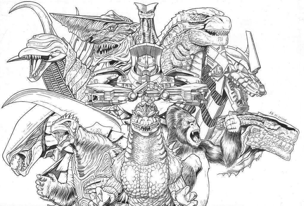 Godzilla King Kong And Gamera Giant Monsters Aoa By