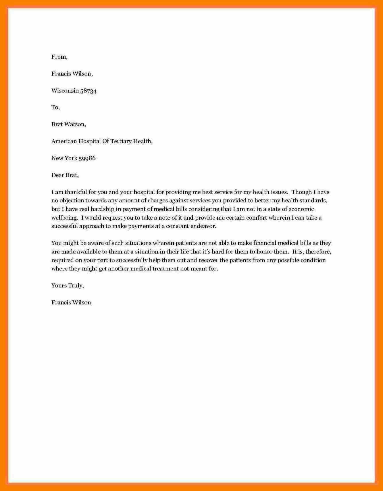 Sample Letter Of Financial Support Unique 10 Letter Of Request For