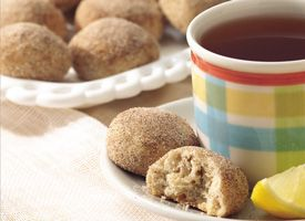 Site RSS  Newsletter         Course  >  Desserts  >  Cookies  >  Cinnamon Tea Cakes   .    Cinnamon Tea Cakes      Bake these nutty, cinnamon-sugar buttons for an afternoon gathering.