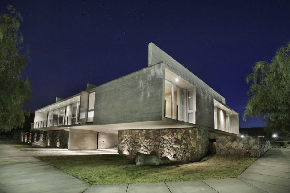 modern home architecture stone. Architecture · Awesome Modern House With Concrete Exterior And Stone Base Home O