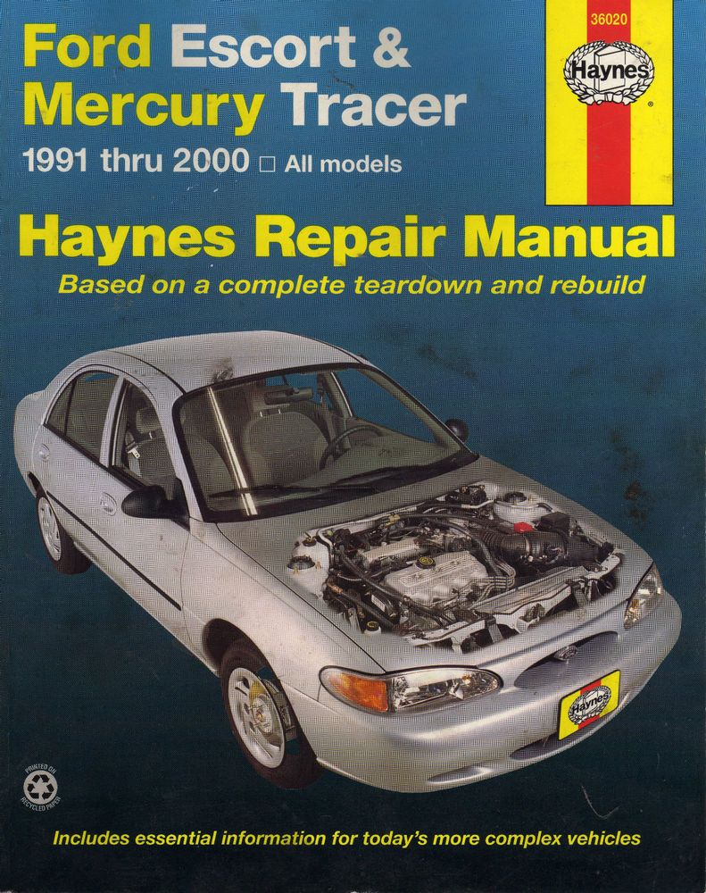 ford escort mercury tracer 1991 1992 1993 1994 1995 1996 2000 haynes manual [ 791 x 1000 Pixel ]
