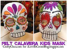 Felt Calavera Kids Mask