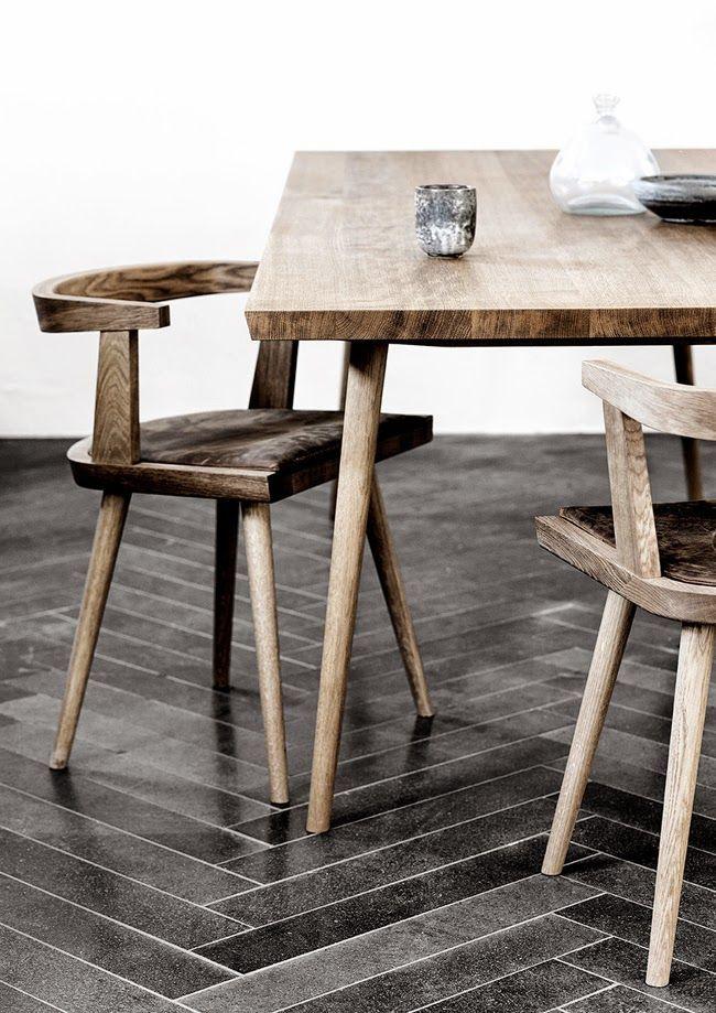hairpin legs  herringbone floors Design Ideas Pinterest