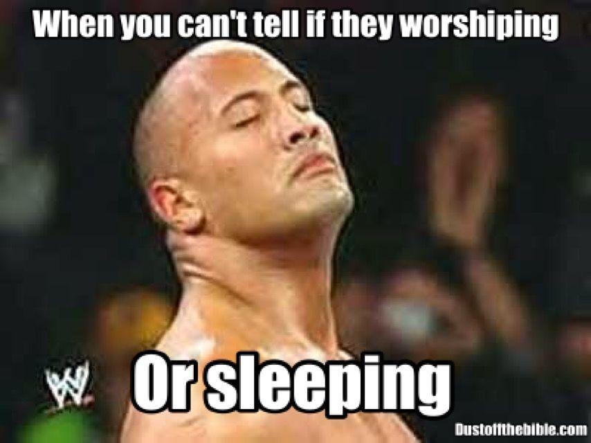 d89c2cc66b9eed0af9c637d6848b5947 sleeping or worshipping in church meme christianmemes