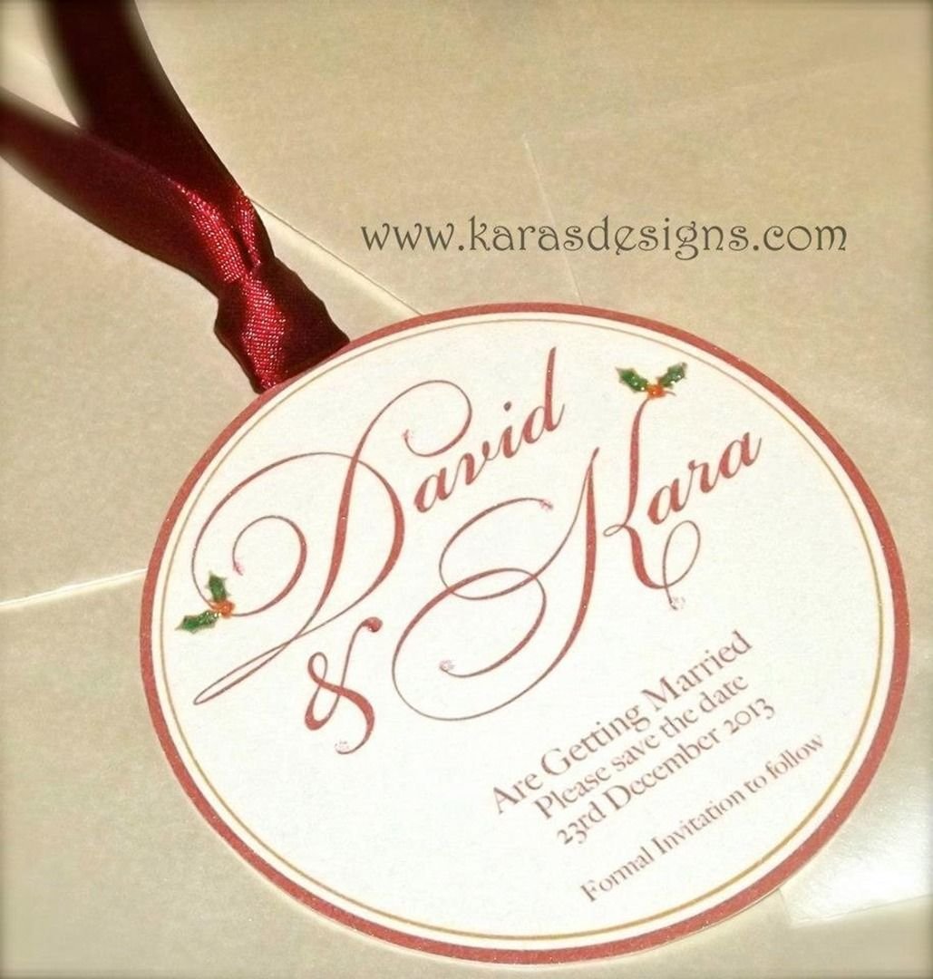 Save The Dates - wedding invites bauble shaped wedding invites for ...