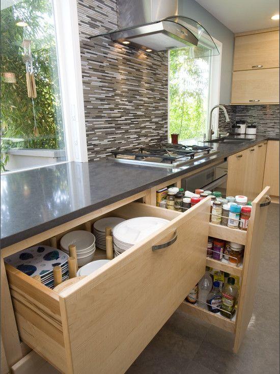 Deep Drawer For Pot Storage Slide Out Drawers Kitchen Cabinets - Kitchen drawer design ideas