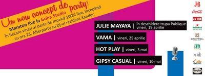 24 fun Brasov recomanda consumul responsabil de muzica live! - Concert Julie Mayaya in Goha studio