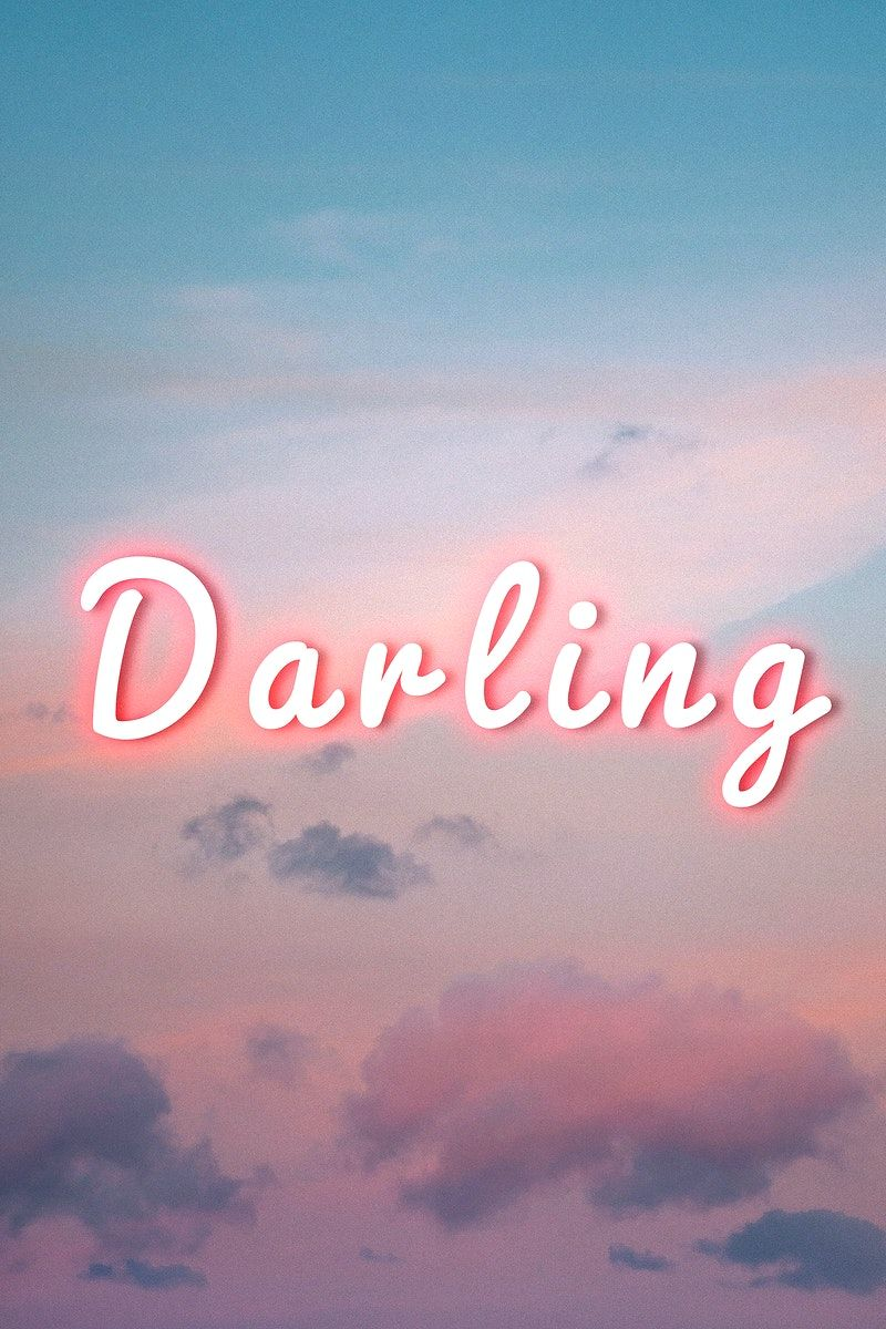 Darling pink neon typography text free image by rawpixel