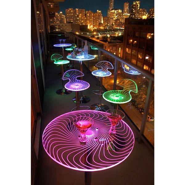 Spyra LED Light Up Bar Table