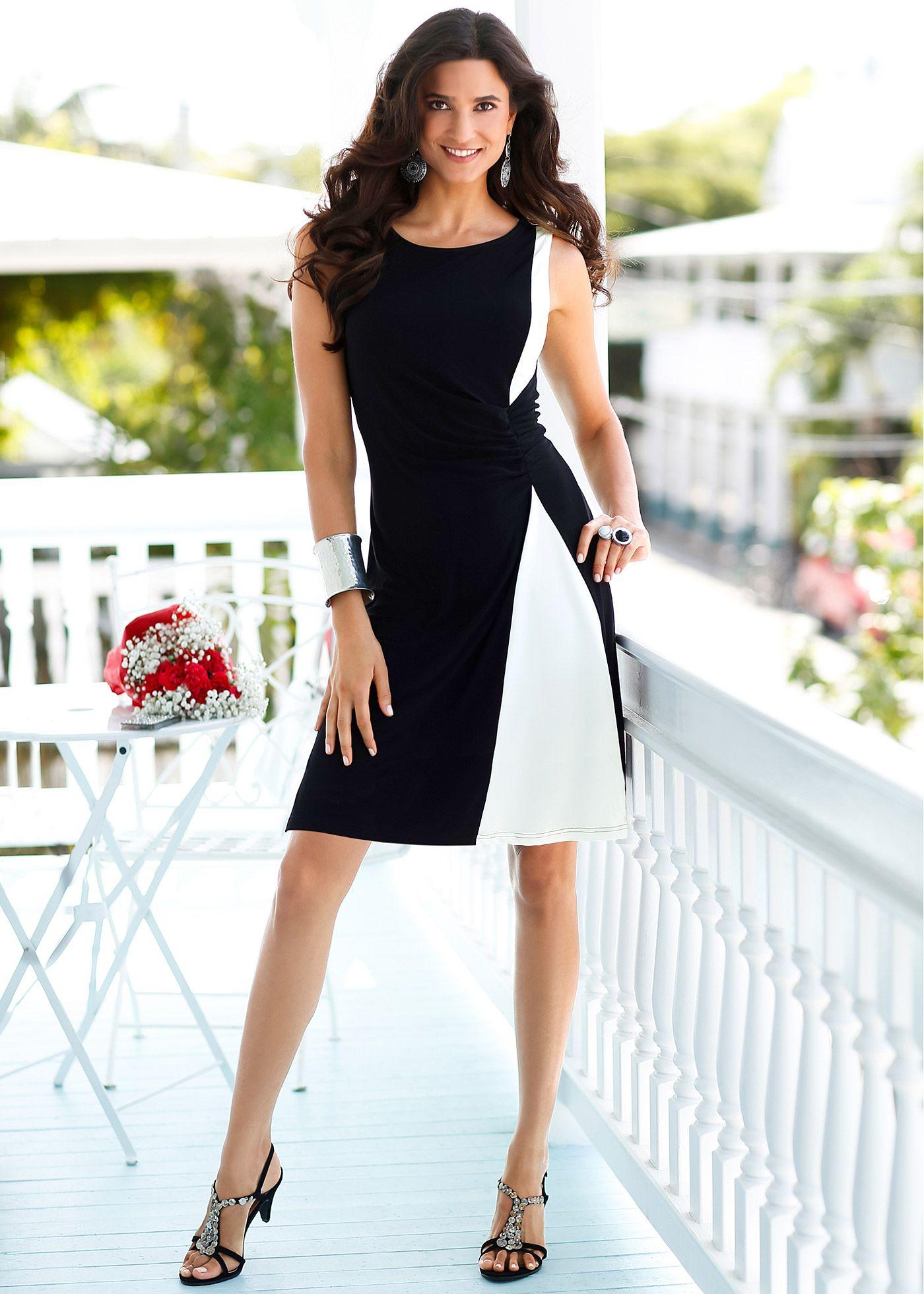 fee68132a Vestido crú preto estampado encomendar agora na loja on-line bonprix.de R   89