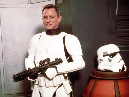 1. Daniel Craig as a Stormtrooper in The Force Awakens.