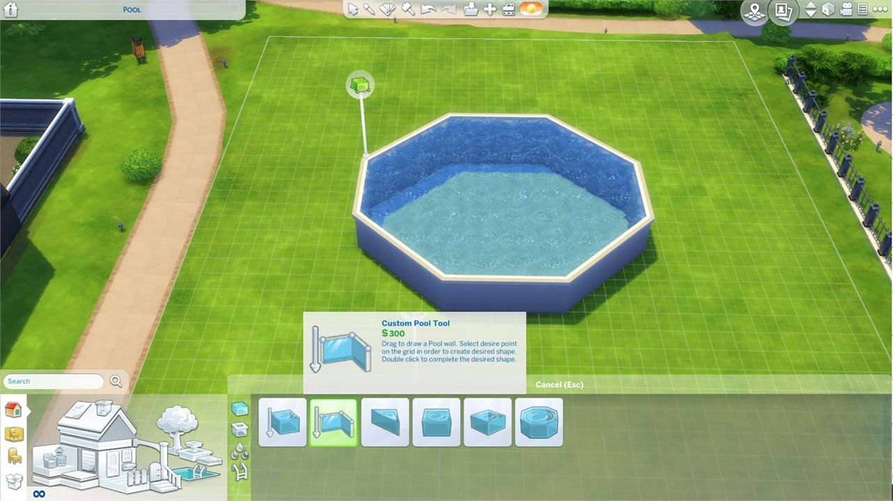 Creating a Customizable Above Ground Pool in The Sims 4