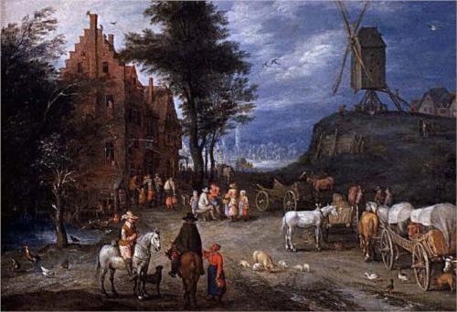 Villagestreet - Pieter Bruegel the Elder