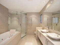 banheiro bege