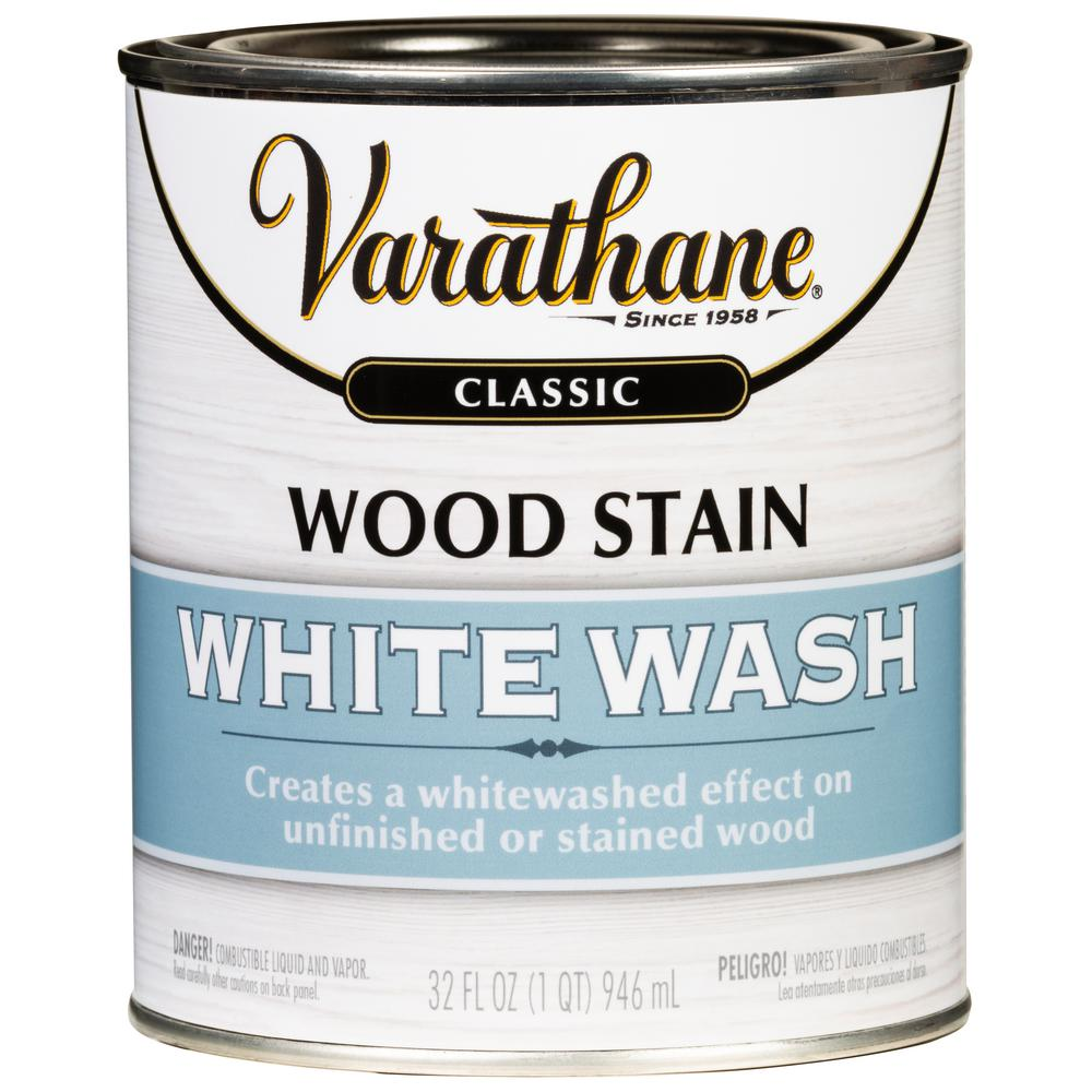Varathane 1 Qt White Wash Interiorwood Stain 2 Pack 349565 The Home Depot In 2020 Interior Wood Stain Staining Wood White Wash