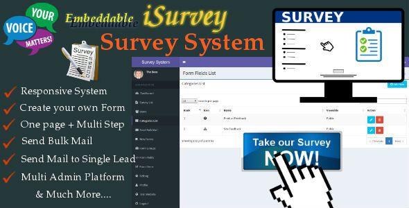 isurvey survey management system with form builder website
