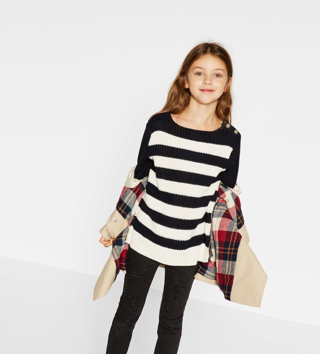 Open knit sweater-SWEATERS AND CARDIGANS-Girl-Kids   4-14 years-KIDS ...