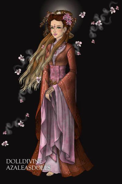 Sakura Goddess ~ by Evalynna ~ created using the LotR Hobbit doll maker | DollDivine.com